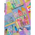 House Art in pastel - After Kandinsky