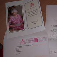 A letter from the Queen!