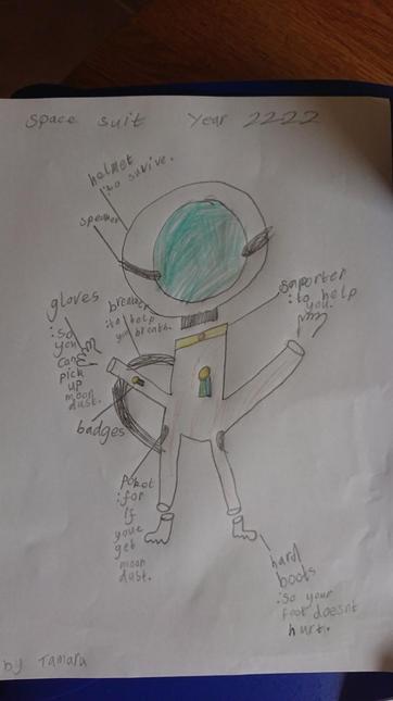 Tamara's spacesuit design for 2222