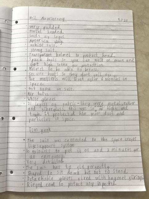 Neil Armstrong and Tim Peake facts by Noah