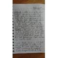 Zach's Edinburg Castle Writing.JPG