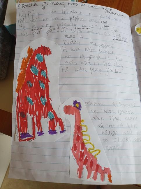 Niamh's Dinosaur called Dippy