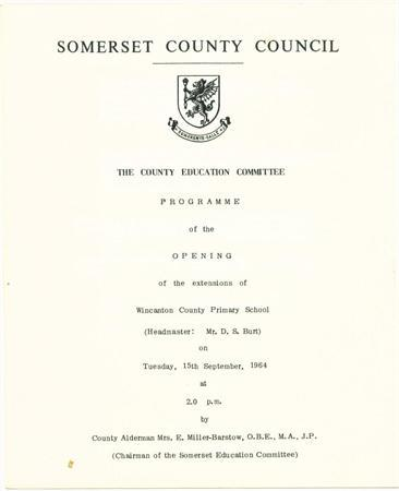 Programme for opening of extension 1634