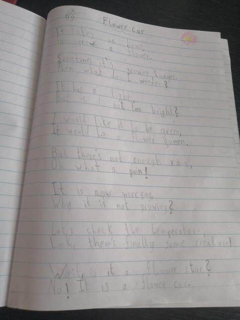 Flower Car poem by Cornel