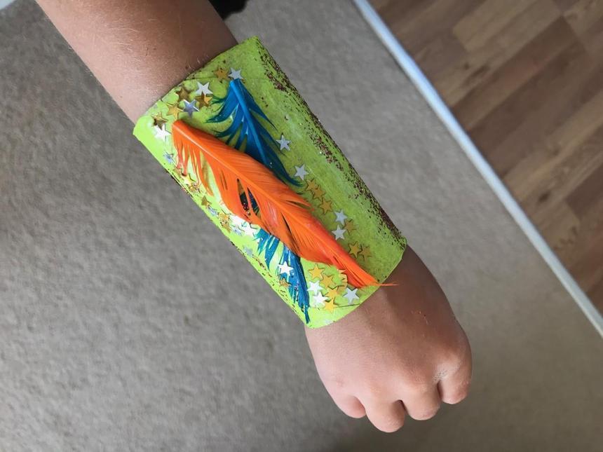 Noah's Superhero cuffs