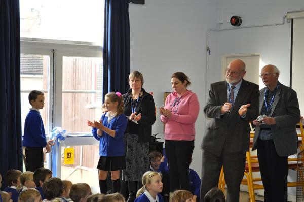 Mr Salter, from Wincanton cutting the Ribbon