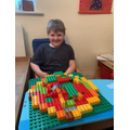This Lego pizza is his Blue Peter work!