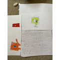 Jacob's dinosaur who is going to visit space!