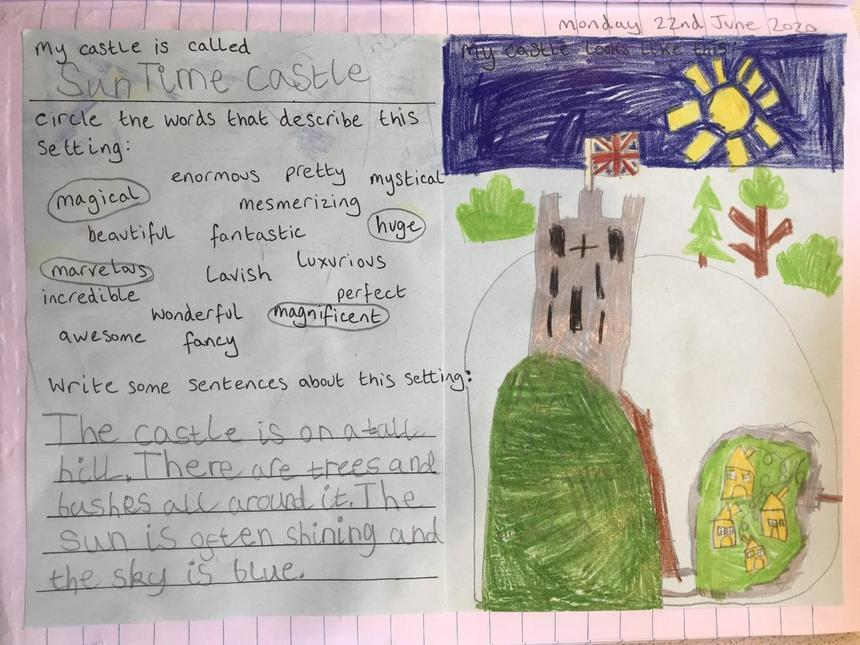 Story setting work by Rosie