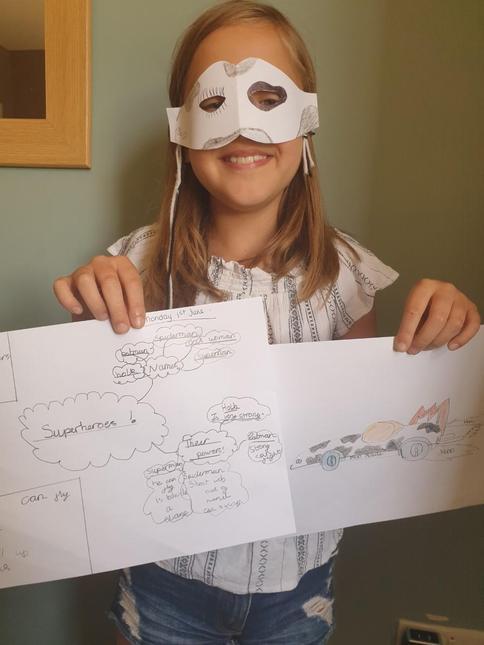 Evie's Superhero work