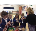 Ice cream making with Mrs Andrews