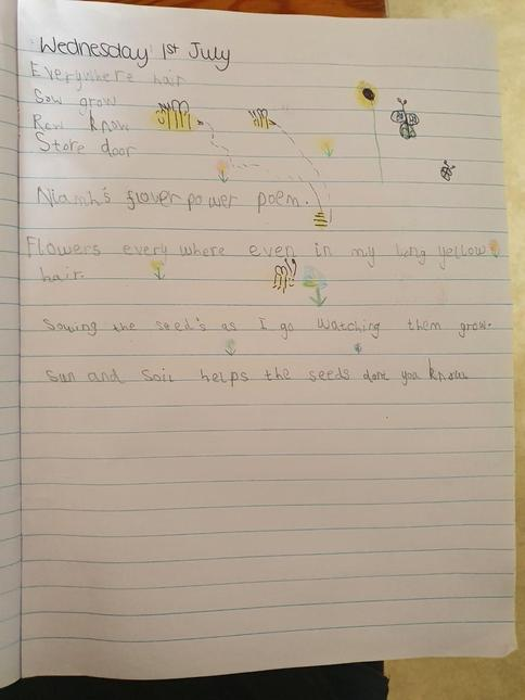 Flower poem by Niamh