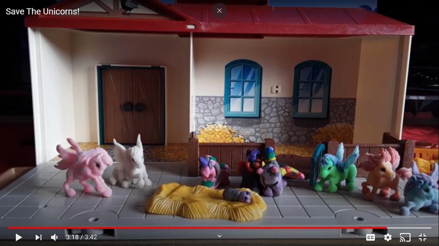Tallulah's animation 'Save the unicorns!'
