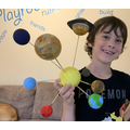 Thomas had fun making his solar system!