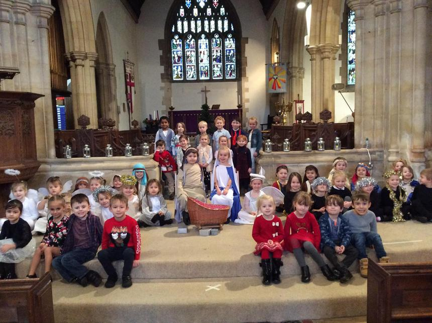 Reception Class Nativity Photo. Well done everyone.