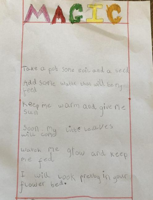 Magic poem by Pippa