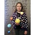 Kasie's Solar System Model