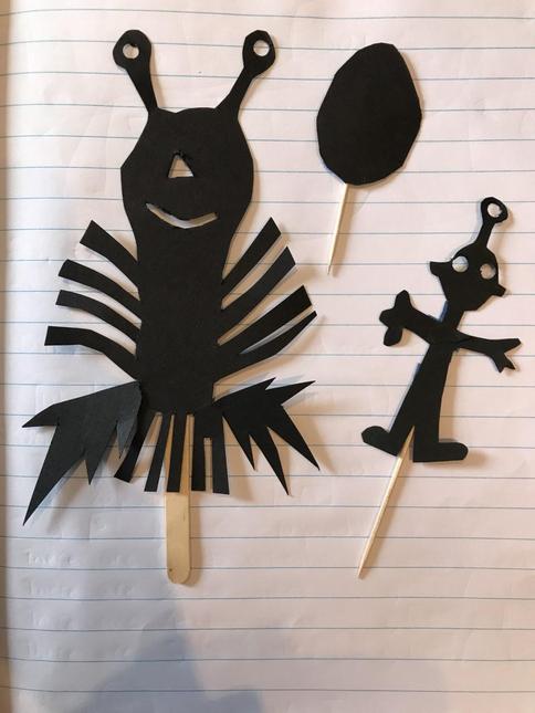 Rosie's shadow puppets