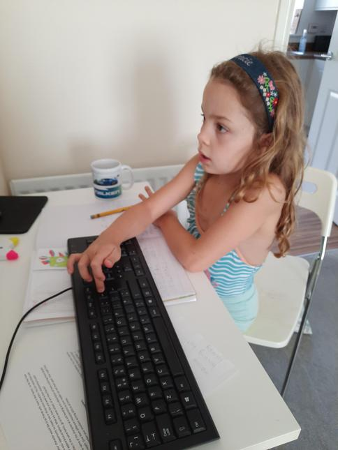Grace creating her animation