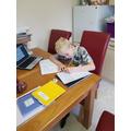 Ashton Working Hard on his English.jpg