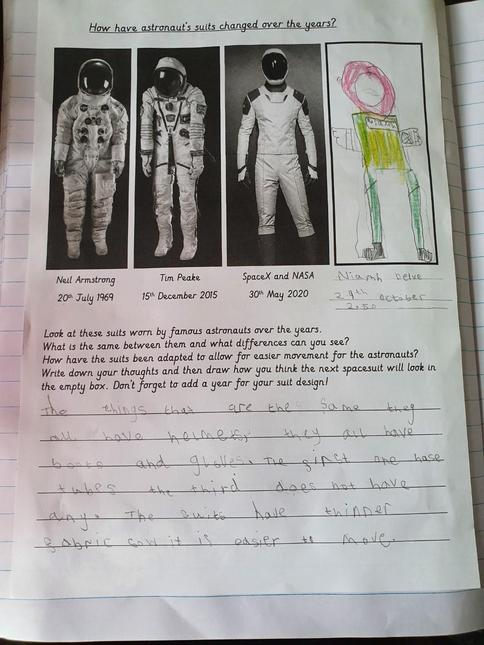 Niamh's comparsion of space suits
