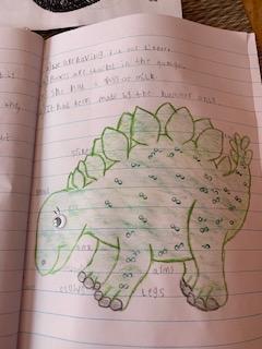 A labelled dinosaur by Mikolaj