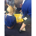 We can use a sieve to separate the pasta and rice