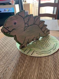 A dinosaur model by Mikolaj