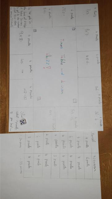 Lilla's maths game