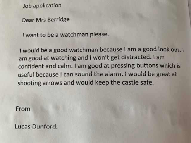 Job application from Lucas