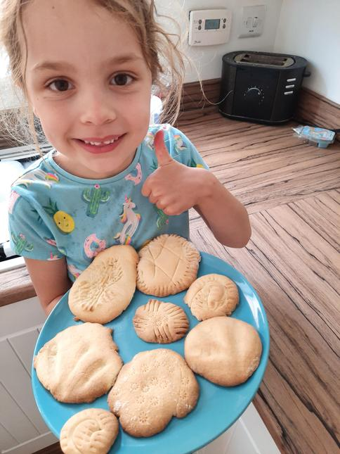 Fossil biscuits by Grace