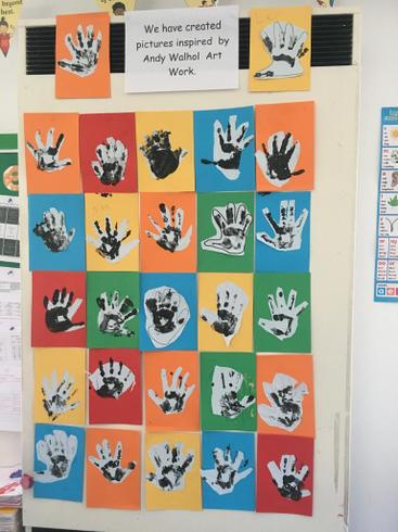We learnt about Andy Warhol and created prints in the style of 'Pop Art'