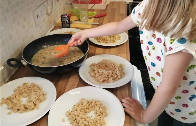 Some super cooking by Edie!