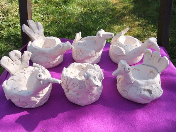 clay chickens