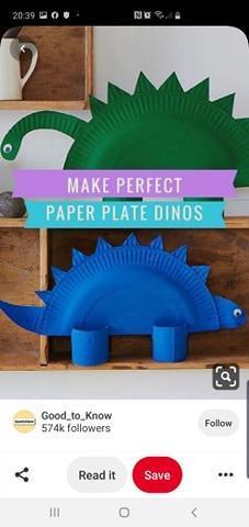 Dinosaur Paper Plates!