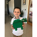 WOW! Michael has made his very own dinosaur!