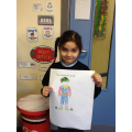 P2/3 designed a new Christmas outfit for 'Elfie'!