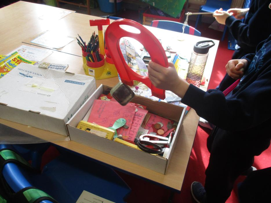 We have been testing if materials are magnetic!