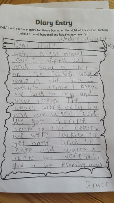 Great diary entry!