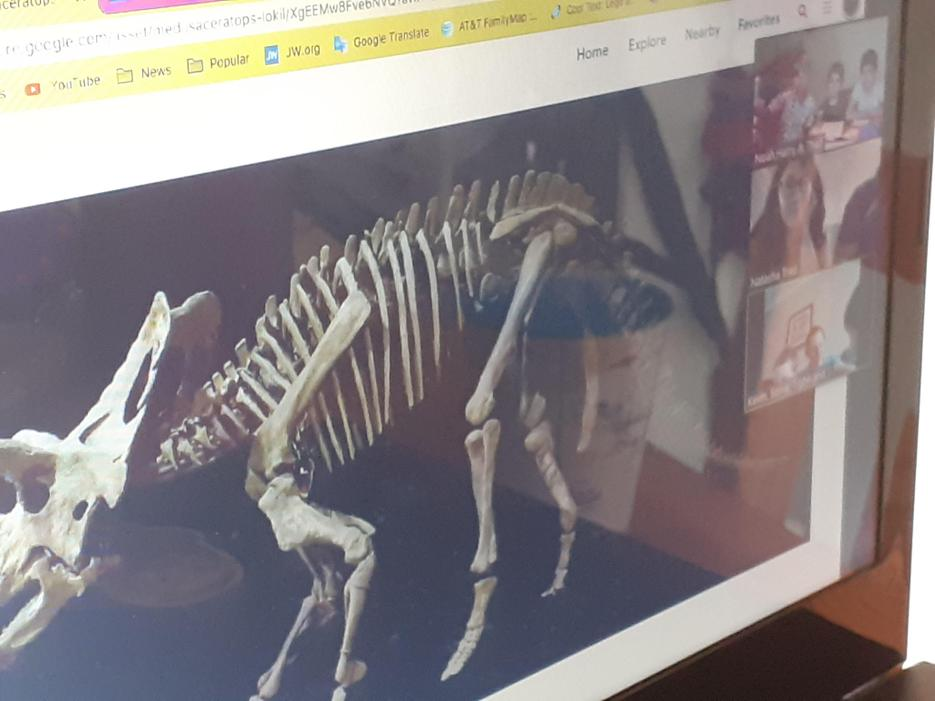 Noah's virtual tour of a science museum in Wyoming