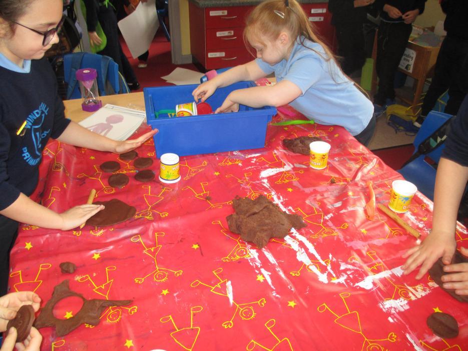 We  played with chocolate playdough!
