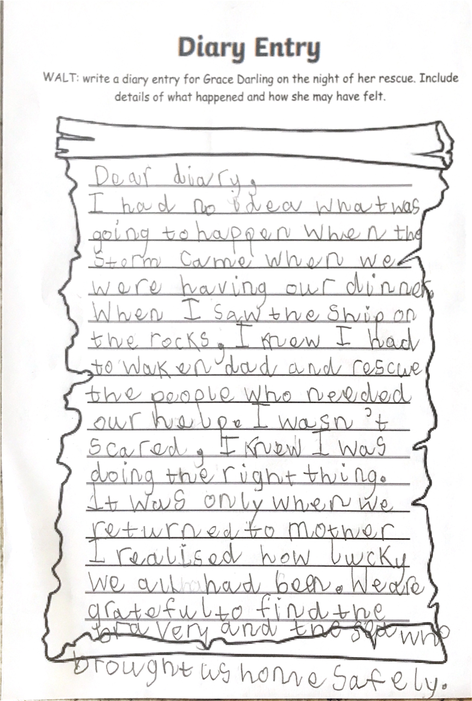 Super diary entry!
