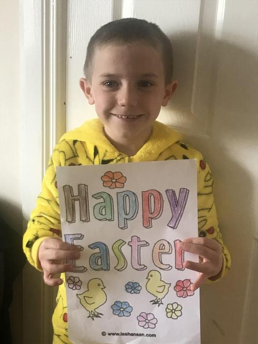 Happy Easter! Lovely colouring!
