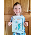 Ella created a cover for her favourite book-WOW!
