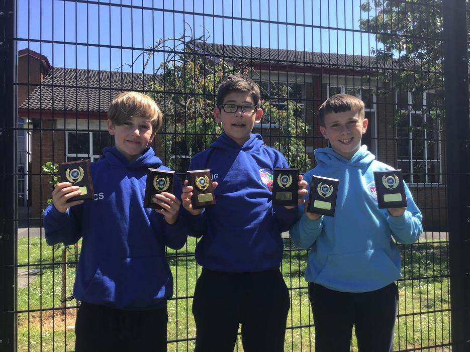 Best Overall Boys' Sports, Achievement in Sport, Cycling Proficiency and ICT