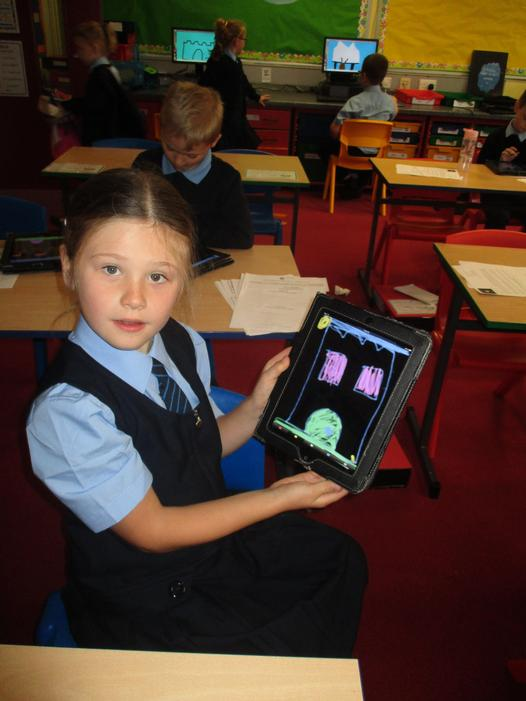 We have also made lovely pictures on the iPads.