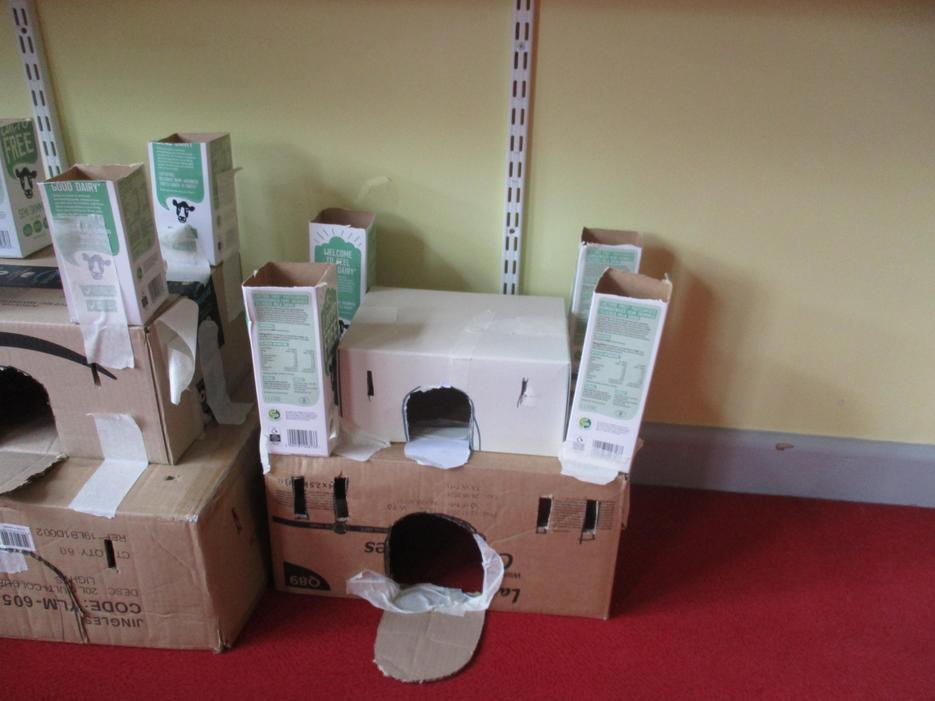 We have made junk castles!
