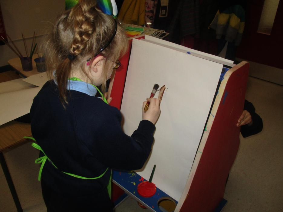 We painted with chocolate!