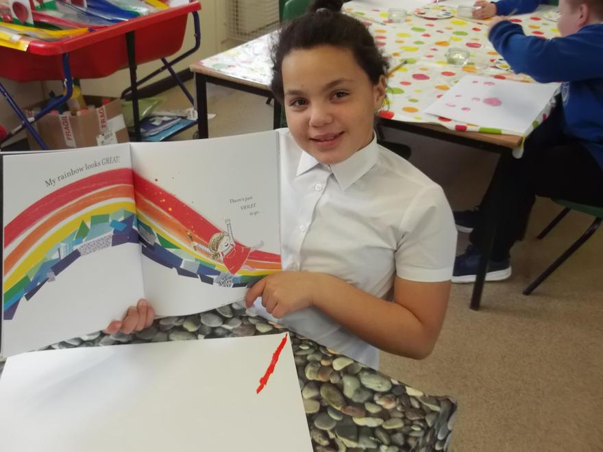Using the book 'The World Made a Rainbow' for inspiration