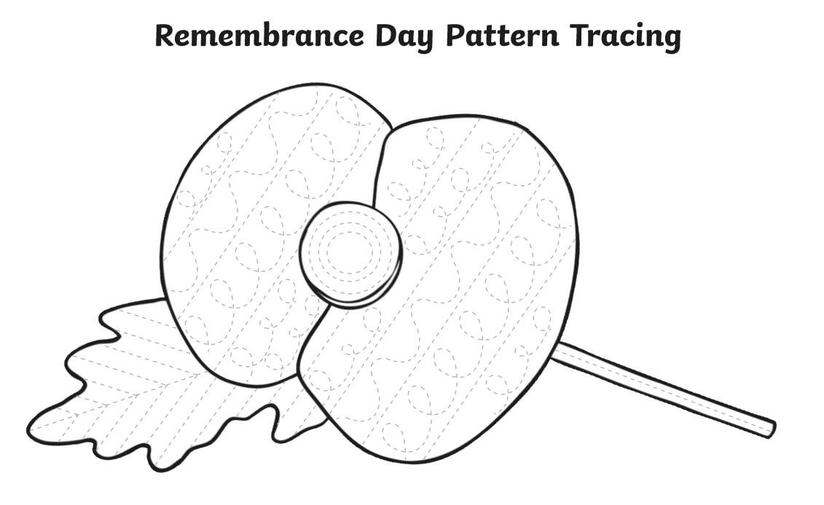 We use our pattern marks to decorate poppies
